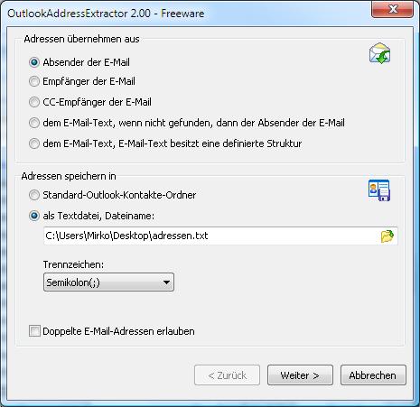 OutlookAddressExtractor